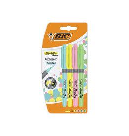 Bic Bic markeerstift Highlighter Grip Pastel  5st. in geas. kl.