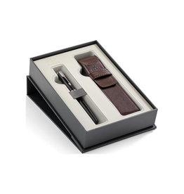 Parker Parker giftbox Sonnet vulpen medium + pen pouch, zwart