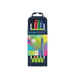Schneider Schneider fineliner Line-Up, etui van 4st in assorti