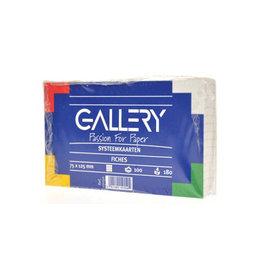 Gallery Gallery witte systeemkaarten 7,5x12,5cm geruit 5mm 100st.