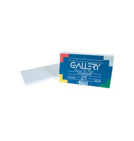 Gallery Gallery witte systeemkaarten 7,5x12,5cm effen pak van 100st.