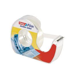 Tesa Tesafilm dubbelzijdige plakband, 12mmx7,5 m met dispenser