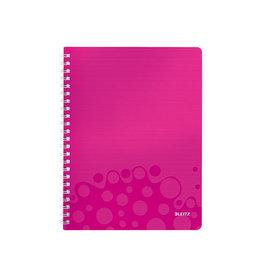 Leitz Leitz WOW schrift ft A4, geruit 5 mm, roze