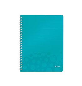 Leitz Leitz WOW schrift ft A4, geruit 5 mm, ijsblauw