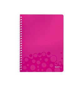 Leitz Leitz WOW schrift ft A4, gelijnd, roze