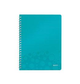 Leitz Leitz WOW schrift ft A4, gelijnd, ijsblauw
