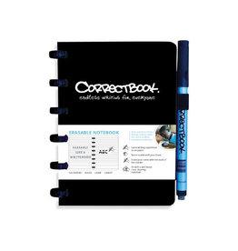 Correctbook Correctbook A6 gelijnd herbruikbaar notitieboekje, zwart