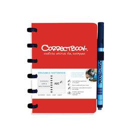 Correctbook Correctbook A6 gelijnd herbruikbaar notitieboekje, rood