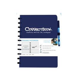 Correctbook Correctbook A4 gelijnd herbruikbaar schrift, blauw