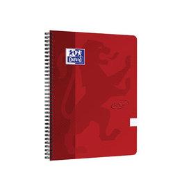 Oxford Oxford Touch spiraalblok, A4, 140 bladzijden, rood, gelijnd