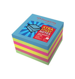 Pergamy Pergamy Extra Sticky notes, 76x76mm, neon , blok 90 vel, 6st