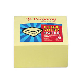 Pergamy Pergamy Extra Sticky notes, 76x76mm, geel, blok 90 vel