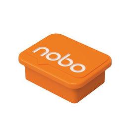 Nobo Nobo magneten voor whiteboard, oranje, pak van 4