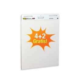 Post-it Post-it meeting chart 63,5x77,5cm blanco 30vel 4+2 gratis