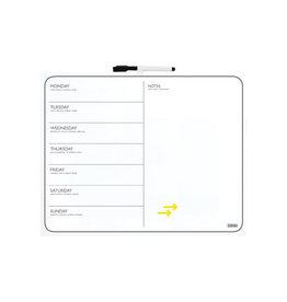 Desq Desq magnetisch memoboard en weekplanner, ft 40 x 50 cm