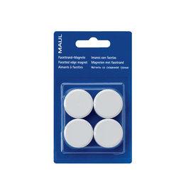 Maul Maul magneet MAULsolid, diameter 38mm, wit, blister van 4st