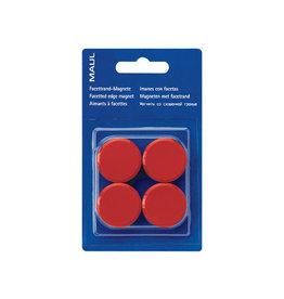 Maul Maul magneet MAULsolid, diameter 38mm, rood, blister van 4st