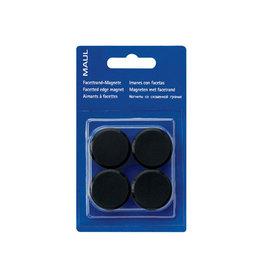 Maul Maul magneet MAULsolid, 20mm, zwart, blister van 8st