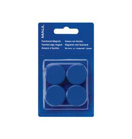 Maul Maul magneet MAULsolid, 20mm, blauw, blister van 8st