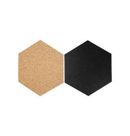 Securit Securit Hexagon set van drie kurkborden vier krijtborden