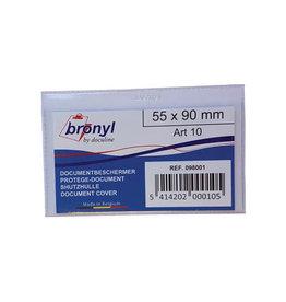Bronyl Bronyl U-mapje uit transp.e PVC 140mic, kredietkaart [20st]