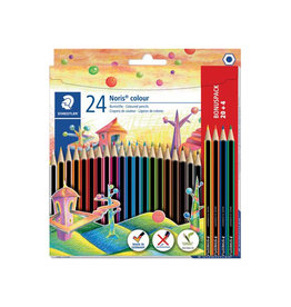 Staedtler Staedtler Noris colour kleurpotloden blister van 20+4 gratis