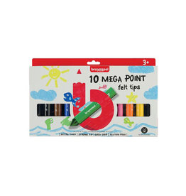 Bruynzeel Kids Bruynzeel Kids viltstiften Mega Point, blister 10 assorti