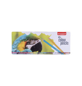 Bruynzeel Bruynzeel kleurpotlood Papegaai, metalen doos 45 potloden