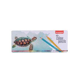 Bruynzeel Bruynzeel kleurpotlood Schildpad, metalen doos 45 potloden