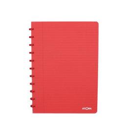 Atoma Atoma schrift Trendy ft A4, gelijnd, transparant rood