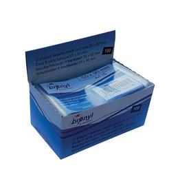 Bronyl Bronyl U-mapje transparante PVC 140 mic. kredietkaart 100st.