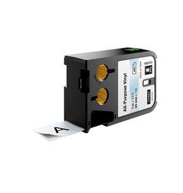 Dymo Dymo XTL vinyltape ft 24 mm x 7,5 m, zwart op transparant