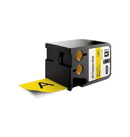 Dymo Dymo XTL tape 54 mm, zwart op geel, vinyl