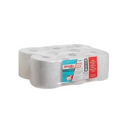 Wypall Wypall reinigingsdoeken L10, 1-laags 6 rollen 525 doeken wit