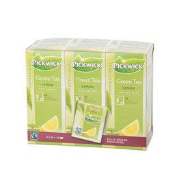 Pickwick Pickwick thee, groene thee lemon, fairtrade, pak 25 zakjes