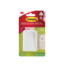 Command Command jumbo canvas ophanghaak wit, blister 1 haak 4 strips