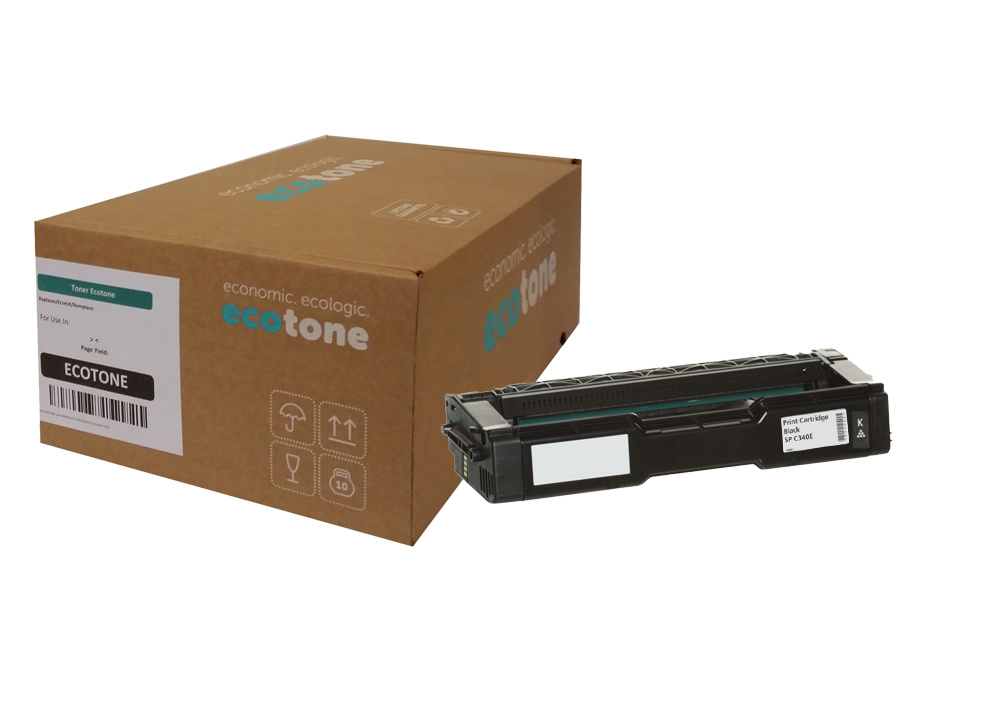 Ecotone Ricoh SP C340E (407899) toner black 5000 pages (Ecotone)