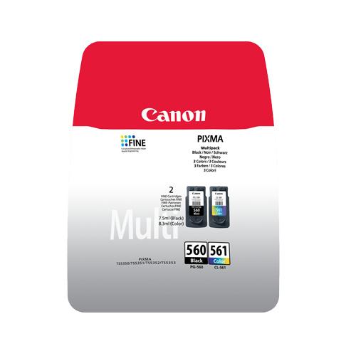 Canon Canon PG-560/CL-561 (3713C006) ink bk+clr 2x180p (original)