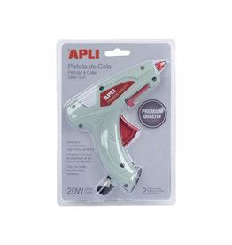 Apli Apli lijmpistool Premium, inclusief 2 lijmpatronen, blister