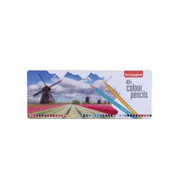 Bruynzeel Bruynzeel kleurpotloden 'Molen', doos met 45 potloden