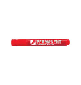 Crown permanent marker,  schrijfbreedte 1 - 3 mm, rood