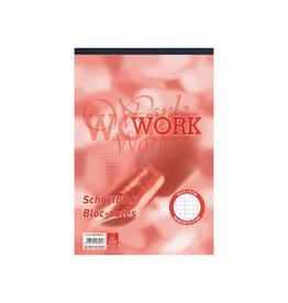Work Work schrijfblok, ft A4, 70 g/m², 100 vel, geruit 5 mm