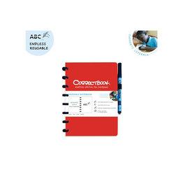 Correctbook Correctbook A5 gelijnd / herbruikbaar schrift, rood