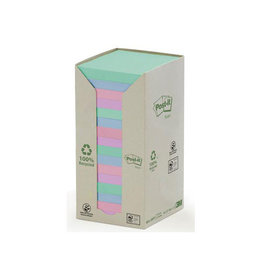 Post-it Post-it Notes gerecycleerd, 76 x 76 mm, 100 vel, 16 blokken