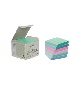 Post-it Post-it Notes gerecycleerd, 76 x 76 mm, 100 vel, 6 blokken