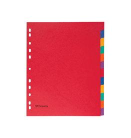 Pergamy Pergamy tabbladen A4 karton, geassorteerde kleuren, 12 tabs