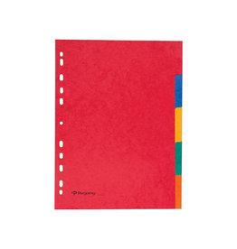 Pergamy Pergamy tabbladen A4, karton, geassorteerde kleuren 5 tabs