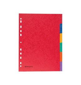 Pergamy Pergamy tabbladen A4, karton, geassorteerde kleuren 6 tabs