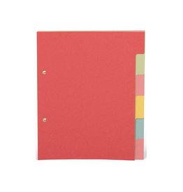 Pergamy Pergamy tabbladen A5, geassorteerde pastelkleuren, 6 tabs