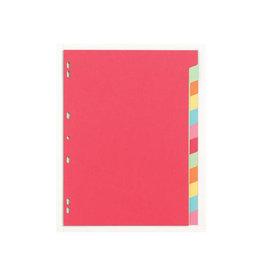 Pergamy Pergamy tabbladen A4, geassorteerde kleuren, 12 tabs